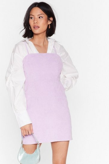 Lilac Call It Square Corduroy Mini Dress