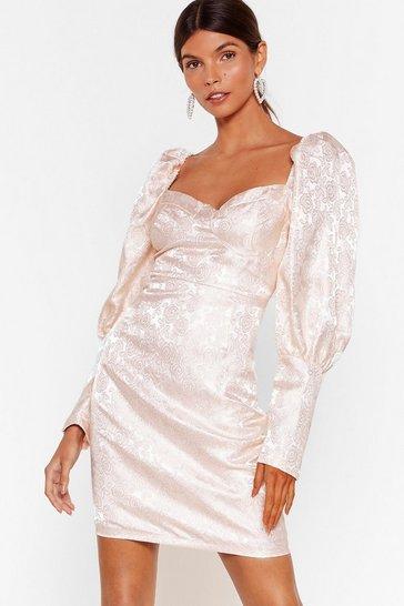 Nude The Way Love Grows Jacquard Mini Dress
