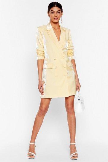 Lemon Cool Down Shimmer Blazer Dress