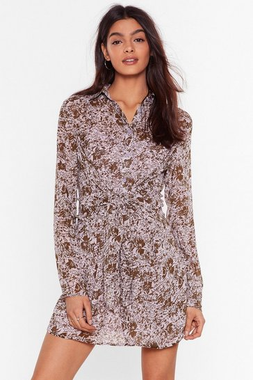 Lilac Waste Grow More Time Floral Mini Dress