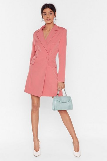 Salmon Powers That Be Oversized Blazer Dress