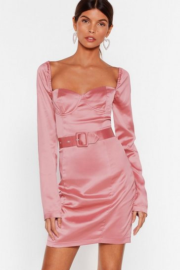 Rose Holdin' onto Hope Satin Mini Dress