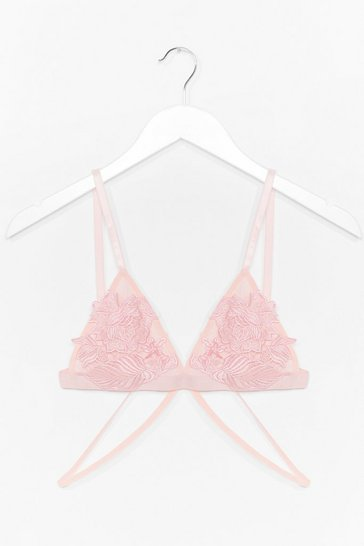 Nude Appliqué and Thankyou Bralette and Thong Set