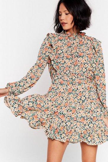 Black Grow 'Em a Goodtime Floral Mini Dress