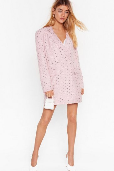 Pink What the Heart Wants Double Breasted Blazer Dress