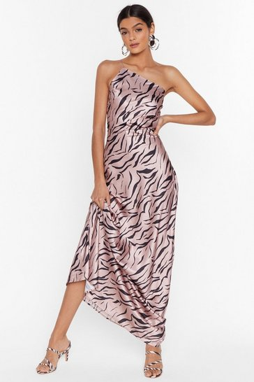 Blush Wild Kinda Love Zebra Maxi Dress