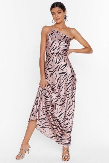 Blush Wild Kinda Love Zebra Maxi Dress