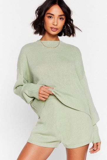 Sage Luxe Like Fun Sweater and Shorts Lounge Set