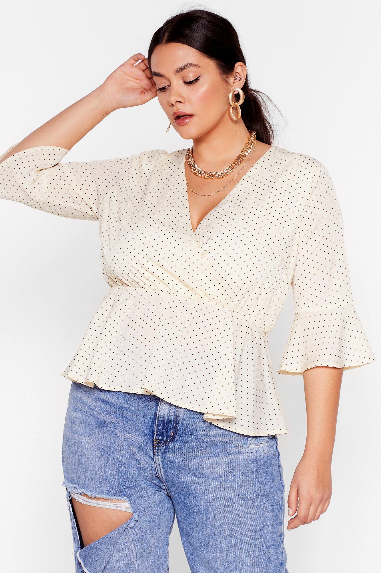 Well Spotted Plus Peplum Blouse 7