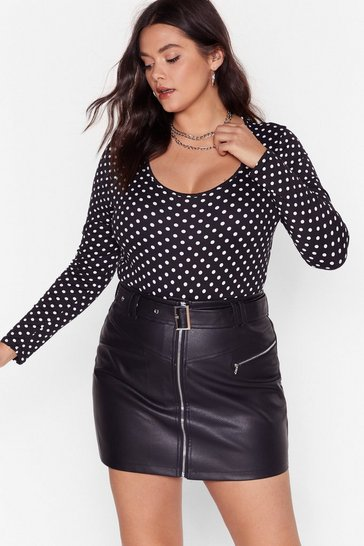 Black Too Spot to Handle Plus Bodysuit