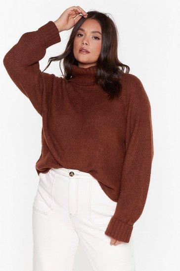 Brown Love Has Taken It's Roll Plus Turtleneck Sweater