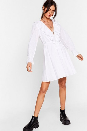 White Frill Got Love For You Broderie Mini Dress