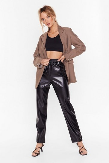 Black All I Faux Leather Need High-Waisted Pants