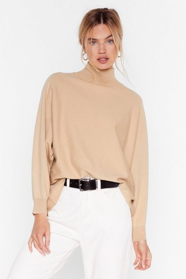 Stone Wing Me Up High Neck Sweater