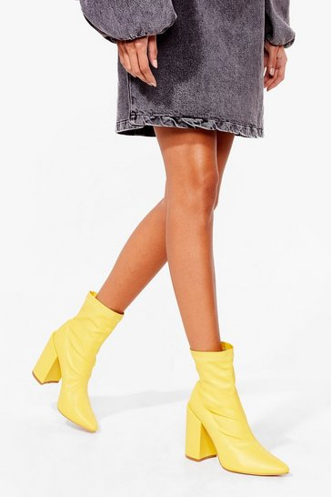 Lemon Just to Point Out Heeled Sock Boots