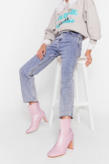 Lilac Electric Love Iridescent Heeled Boots