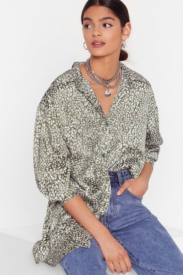 Sage Naturally You Satin Animal Shirt