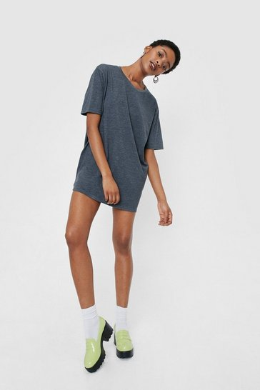 T-shirt oversize chiné, Charcoal