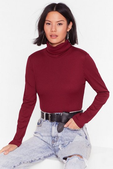 Wine A Little Bit of Me Ribbed Crop Top