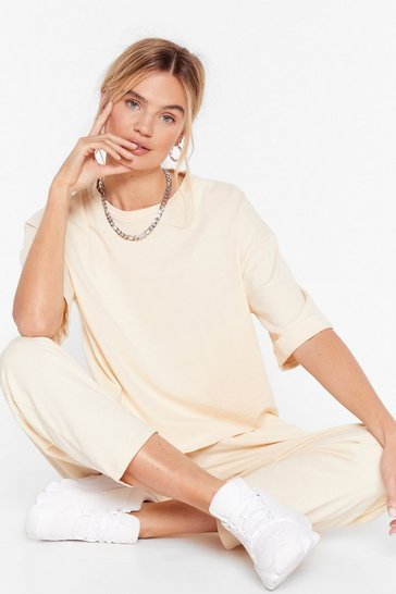 Sand Oversized T-shirt and Sweatpants Set