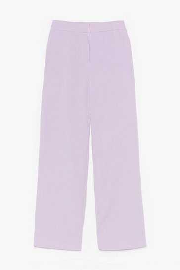 Lilac Let's Not Waist Time High-Waisted Pants