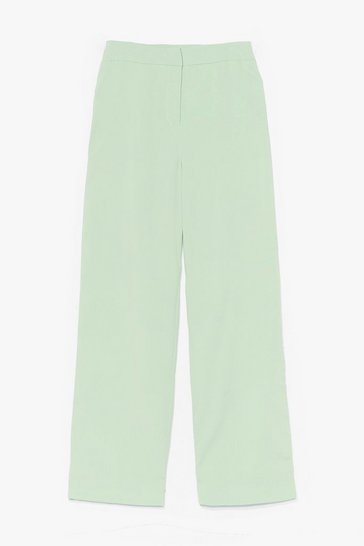 Mint Let's Not Waist Time High-Waisted Pants