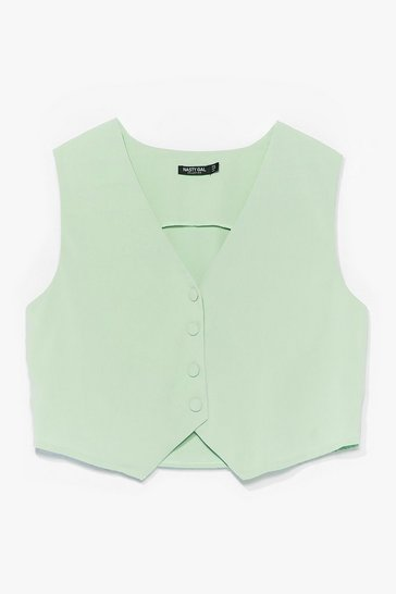 Mint Let's Not Waist Time Button-Down Waistcoat