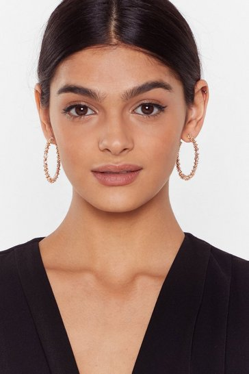 Gold Gotta Hoop Together Textured 2-Pc Earring Set