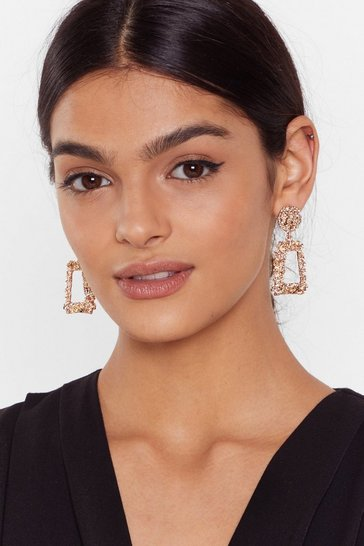 Gold Small Door Knocker Earrings