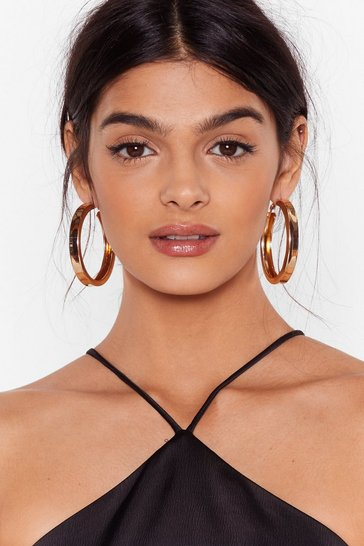 Gold Lay It on Thick Hoop Earrings
