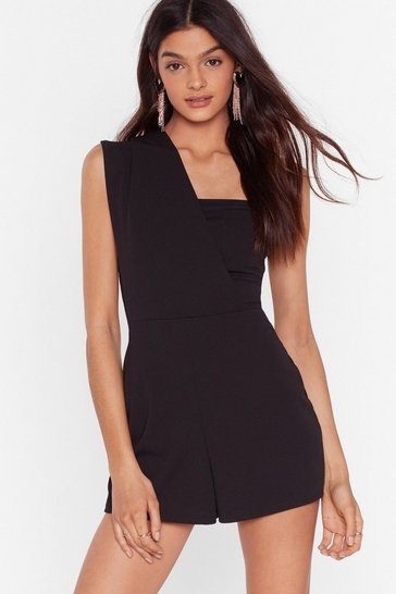 Black Finally Found the One Shoulder Romper