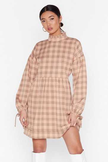 Blush Don't Smock Me Check Mini Dress