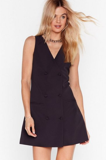 Black Business Meets Pleasure Blazer Mini Dress