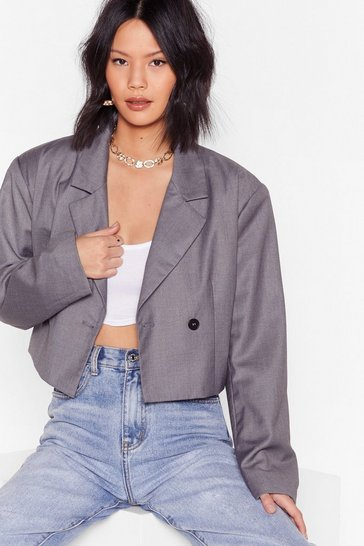 Grey Oh Crop Tailored Cropped Blazer