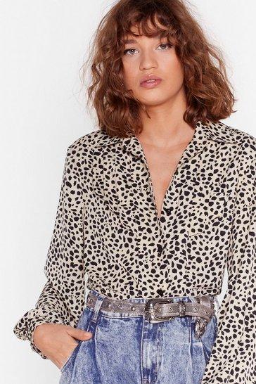 Beige Old Dog New Tricks Dalmatian Shirt