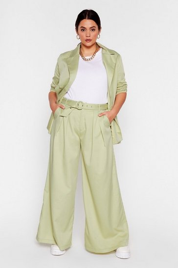 Mint End Results Plus Wide-Leg Pants