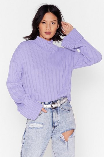 Lilac Knits About To Go Down Jumper
