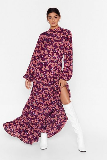 Black Grow 'Em What You've Got Floral Maxi Dress