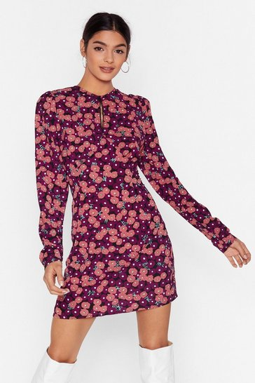 Black Grow 'Em What You've Got Floral Mini Dress