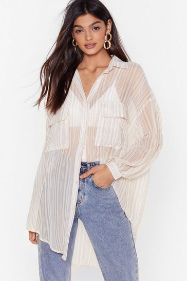 Nude Shirt It Here First Oversized Striped Shirt