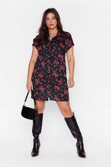 Black Poppy Field Plus Floral Dress