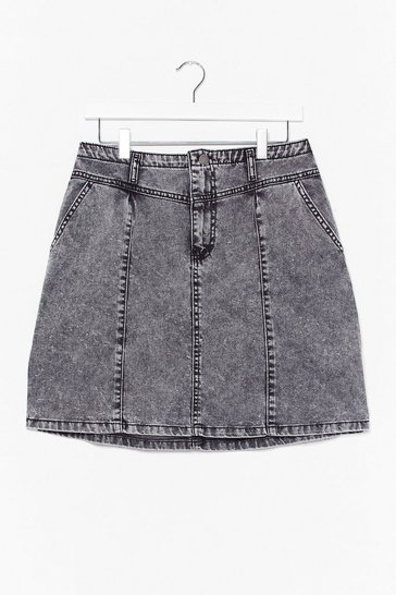 Washed black Wash On the Agenda Denim Mini Skirt
