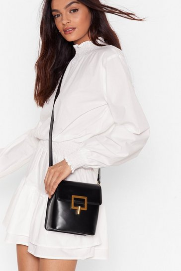 Black WANT It's Within Your Clasp Crossbody Bag