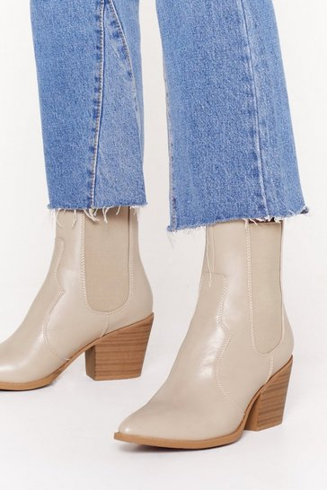 Stone Why Wood You Lie Faux Leather Chelsea Boots