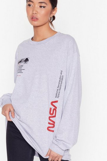 Grey We Need Some Space NASA Graphic Tee