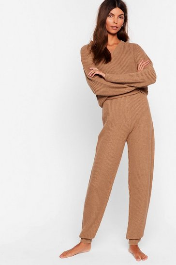 Biscuit Knit 'Em With the Truth Jogger Lounge Set