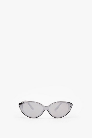 Silver Time to Reflect Cat-Eye Sunglasses
