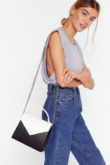 Black WANT Message After the Two-Tone Crossbody Bag