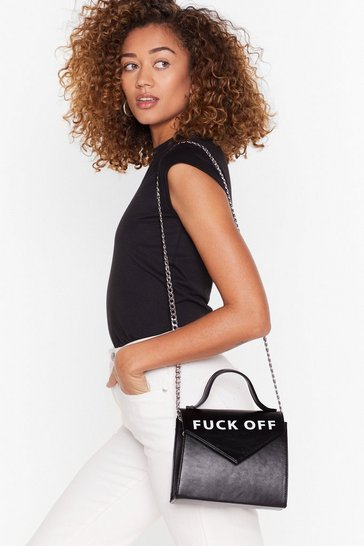 Black WANT Lemme Grab My Purse Crossbody Bag