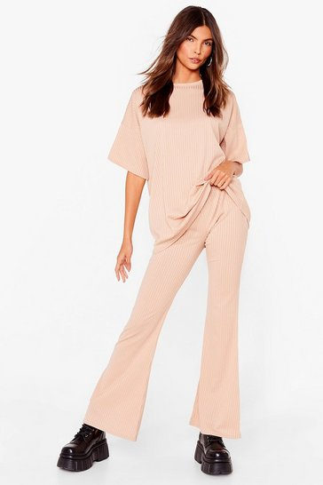 Stone Together Again Oversized Tee and Trousers Set